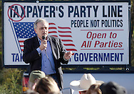 Middletown, New York - The Orange/Sullivan County 912 Tea Party hosted a candidate forum with Republican gubernatorial candidate Carl Paladino in the parking lot outside party headquarters on Oct. 9, 2010.
