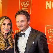 NLD/Amsterdam/20161221 - NOC*NSF Sportgala 2016, Ellen Hoog en partner Kelvin de Lang