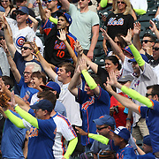 NEW YORK, NEW YORK - July 03: Fans wearing Yoenis Cespedes #52 of the New York Mets sleaves during the Chicago Cubs Vs New York Mets regular season MLB game at Citi Field on July 03, 2016 in New York City. (Photo by Tim Clayton/Corbis via Getty Images)