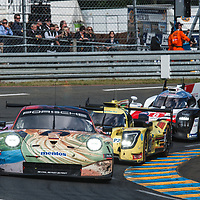 #56, Team Project 1, Porsche 911 RSR, LMGTE Am, driven by: Jorg Bergmeister, Patrick Lindsey, Egidio Perfetti on 15/06/2019 at the Le Mans 24H 2019