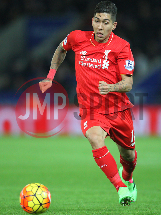 Roberto Firmino of Liverpool in action - Mandatory byline: Jack Phillips/JMP - 02/02/2016 - FOOTBALL - King Power Stadium - Leicester, England - Leicester City v Liverpool - Barclays Premier League