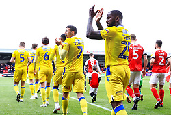 Bristol Rovers players applaud the travelling fans as the teams walk out - Mandatory by-line: Matt McNulty/JMP - 27/04/2019 - FOOTBALL - Highbury Stadium - Fleetwood, England - Fleetwood Town v Bristol Rovers - Sky Bet League One