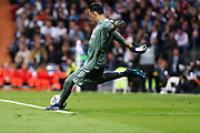 Keylor Navas (Real Madrid) during the UEFA Champions League, semi final, 2nd leg football match between Real Madrid and Bayern Munich on May 1, 2018 at Santiago Bernabeu stadium in Madrid, Spain - Photo Laurent Lairys / ProSportsImages / DPPI