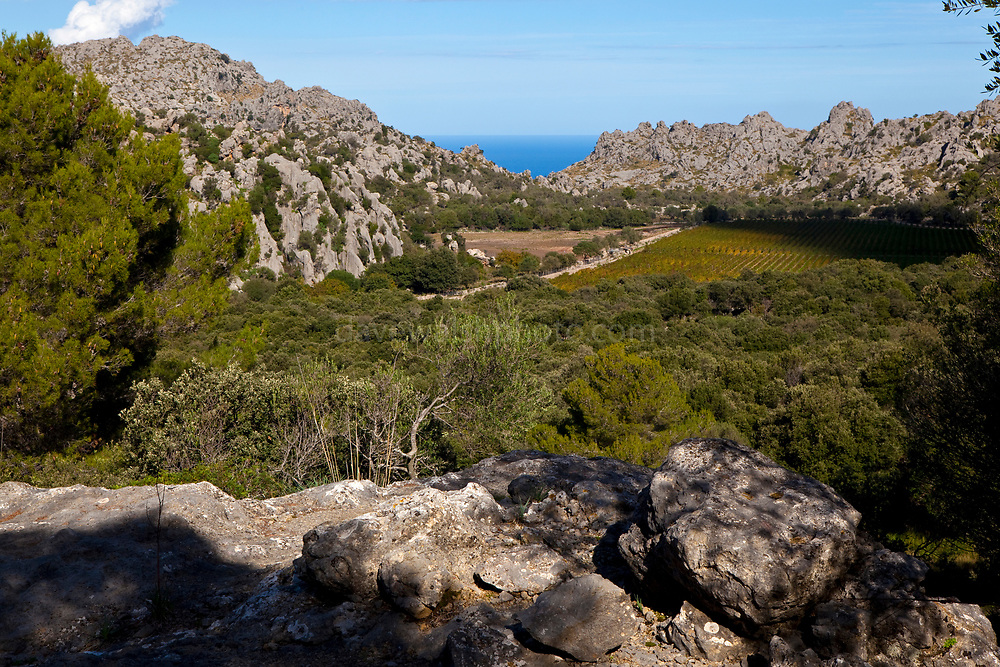 Serra de Tramuntana, mountain range in Mallorca Spain, which, since 2011, has World Heritage Status from UNESCO. It is now a protected landscape from urbanization.     The Cultural Landscape of the Serra de Tramuntana located on a sheer-sided mountain range parallel to the north-western coast of the island of Mallorca. Millennia of agriculture in an environment with scarce resources has transformed the terrain and displays an articulated network of devices for the management of water revolving around farming units of feudal origins. The landscape is marked by agricultural terraces and inter-connected water works - including water mills - as well as dry stone constructions and farms.