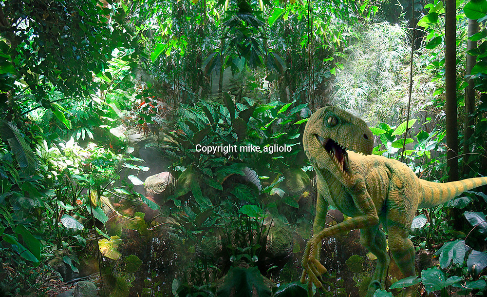 dinosour in jungle