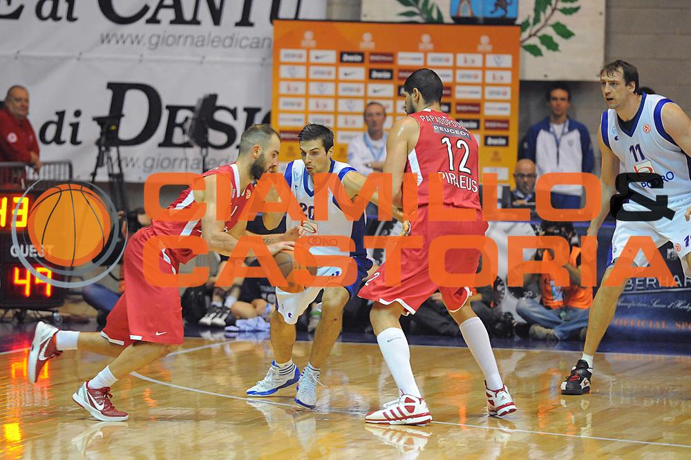 DESCRIZIONE : Desio Eurolega 2011-12 Bennet Cantu Olympiacos Piraeus<br /> GIOCATORE : Vassilis Spanoulis<br /> CATEGORIA : palleggio penetrazione blocco<br /> SQUADRA : Bennet Cantu Olympiacos Piraeus<br /> EVENTO : Eurolega 2011-2012<br /> GARA : Bennet Cantu Olympiacos Piraeus<br /> DATA : 09/11/2011<br /> SPORT : Pallacanestro <br /> AUTORE : Agenzia Ciamillo-Castoria/GiulioCiamillo<br /> Galleria : Eurolega 2011-2012<br /> Fotonotizia : Desio Eurolega 2011-12 Bennet Cantu Olympiacos Piraeus<br /> Predefinita :