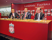 01.JUNE.2012 LONDON<br /> <br /> BRENDAN RODGERS ATTENDS A PRESS CONFRENCE AT ANFIELD STADIUM AFTER ACCEPTING THE ROLE OF LIVERPOOL FC MANAGER.<br /> <br /> BYLINE: EDBIMAGEARCHIVE.COM<br /> <br /> *THIS IMAGE IS STRICTLY FOR UK NEWSPAPERS AND MAGAZINES ONLY*<br /> *FOR WORLD WIDE SALES AND WEB USE PLEASE CONTACT EDBIMAGEARCHIVE - 0208 954 5968*