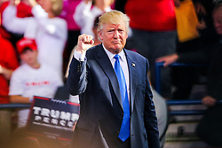 November 7, 2016 - Raleigh, North Carolina, U.S - Republican Presidential Candidate Donald J Trump holds a final campaign rally on the eve of the election at Dorton Arena in Raleigh, North Carolina. (Credit Image: © Andy Martin Jr. via ZUMA Wire)