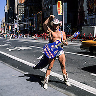 The Naked cow boy. street life in Times square area, New york - United states  Manhattan / le - Naked cowboy -, Times square scenes de rue,   New york - Etats unis