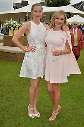 Left to right, SOPHIE STUART and FLEUR COOPER at the Goffs London Sale held at The Orangery, Kensington Palace, London on 12th June 2016.