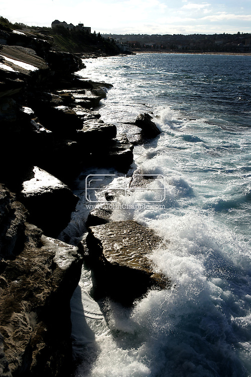 12th May 2007. Coogee, NSW. Waves crashing at Coogee in New South Wales, on the rugged Australian coast. PHOTO  © JOHN CHAPPLE / REBEL IMAGES