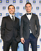 "Frankie Alvarez and Murray Bartlett, actors of HBO series ""Looking"" at the HRC's Greater NY Gala 2014 held at the Waldorf=Astoria in New York City on Saturday, February 8, 2014. (Photo: JeffreyHolmes.com)"