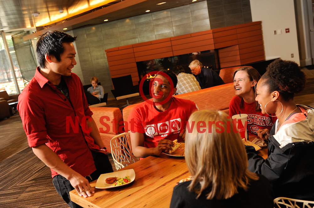 Students eat and enjoy the new Talley Student Union. Photo by Marc Hall