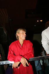 LIVERPOOL, ENGLAND - WEDNESDAY, JUNE 9th, 2005: Martin Navratilova at the Players Party at the St Thomas Hotel during the 4th Liverbird Developments Liverpool International Tennis Tournament. (Pic by Dave Rawcliffe/Propaganda)
