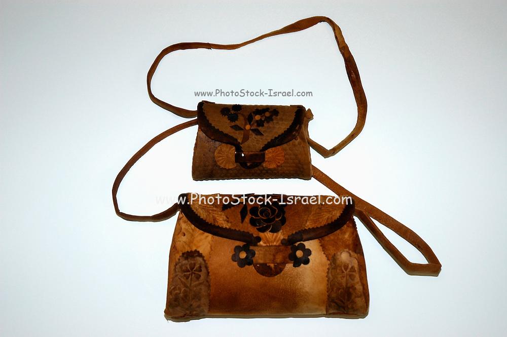 handbags Produced from dried mushroom fibre