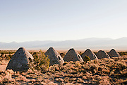 Six large charcoal ovens in the vast open spaces of Nevada. Missoula Photographer