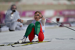 SKORABAHATAYA Yadviha Guide: NAFRANOVICH Iryna competing in the Nordic Skiing XC Long Distance at the 2014 Sochi Winter Paralympic Games, Russia