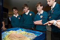 11/11/2015 Repro free:   More than 300 students visited the Marine Institute for Galway Science &amp; Technology Festival and the Sea for Society project. At the event were <br /> pupils from Colaiste na CoirbeJack Kissane, Harry Donnellan, James Gavin and Eoghan Brophy. Photo:Andrew Downes, xposure.
