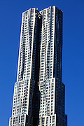 Downtown New York City Frank Gehry designed residential highrise tower