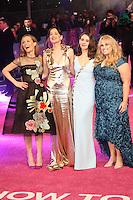 Leslie Mann, Dakota Johnson, Alison Brie, Rebel Wilson, How To Be Single - European film premiere, Leicester Square, London UK, 9 February 2016, Photo by Richard Goldschmidt