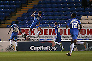 Peterborough United forward Lee Angol (24) scores a goal and celebrates to make the score 2-0 during the Sky Bet League 1 match between Peterborough United and Coventry City at London Road, Peterborough, England on 25 March 2016. Photo by Simon Davies.