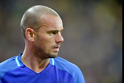 November 14, 2017 - Bucharest, Romania - Wesley Sneijder (Ned) during the International Friendly match between Romania and Netherlands at National Arena Stadium in Bucharest, Romania, on 14 november 2017. (Credit Image: © Alex Nicodim/NurPhoto via ZUMA Press)