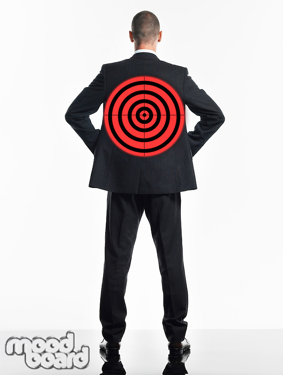 Businessman with Target on Back