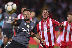 October 22, 2017 - Porto, Aves, Portugal - Benfica's Switzerland forward Haris Seferovic (L) with Aves´s player Gomes (R) during the Premier League 2017/18 match between CD Aves and SL Benfica, at Estadio do Clube Desportivo das Aves in Aves on October 22, 2017. (Credit Image: © Dpi/NurPhoto via ZUMA Press)