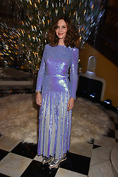 Trinny Woodall at reception to celebrate the launch of the Claridge's Christmas Tree 2017 at Claridge's Hotel, Brook Street, London England. 28 November 2017.<br /> Photo by Dominic O'Neill/SilverHub 0203 174 1069 sales@silverhubmedia.com