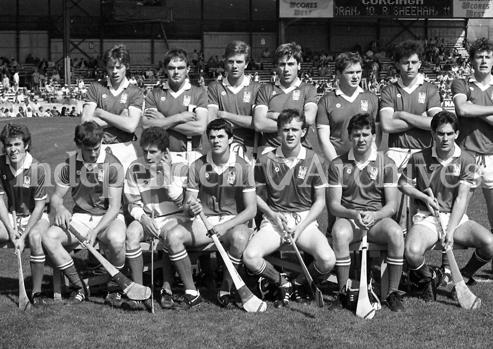 986-142 Minor Teams  Cork v. Offaly. 1986 (Part of Independent Newspapers Ireland/NLI Collection)