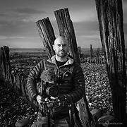 "Portrait of camerman Rob Zaborski filming me for the ITV Wales program, ""The Strait"""