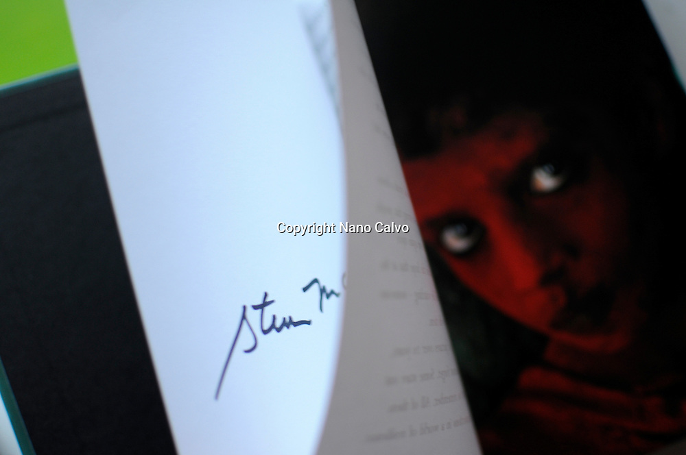 Photography book signed by National Geographic photographer, Steve McCurry