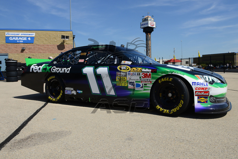 Joliet, IL - SEP 14, 2012: Denny Hamlin (11) during practice for the Geico 400 at the Chicagoland Speedway in Joliet, IL.
