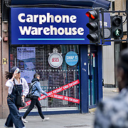 London, England, UK. 27 May 2019. Carphone Warehouse closing down at Liverpool Street, London, UK