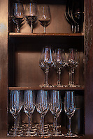 GLASSES IN THE VINOTECA, HOTEL HYATT, BARRIO DE RECOLETA, CIUDAD AUTONOMA DE BUENOS AIRES, ARGENTINA (PHOTO BY MARCO GUOLI - © 500PX, INC. - ALL RIGHTS RESERVED. CONTACT THE COPYRIGHT OWNER FOR IMAGE REPRODUCTION)
