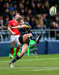 Alex Forrester (Hartpury College) of Worcester Warriors U18 - Rogan Thomson/JMP - 16/02/2017 - RUGBY UNION - Sixways Stadium - Worcester, England - Worcester Warriors U18 v Saracens U18 - Premiership Rugby Under 18 Academy Finals Day 5th Place Play-Off.