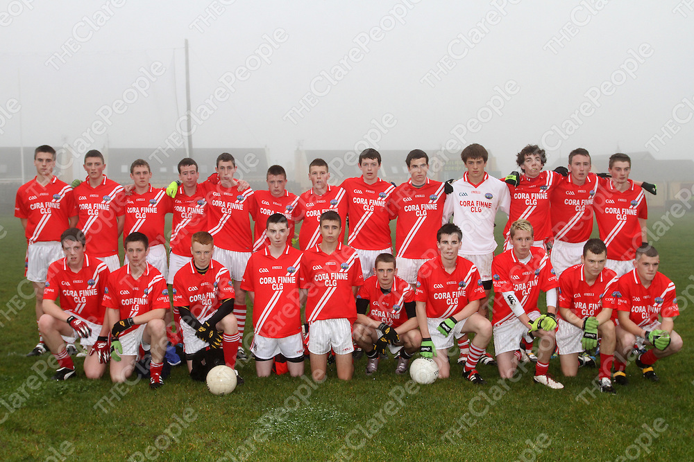 Corofin team defeated by Kilrush Shamrocks in the Bord na n&Oacute;g Football Minor &quot;B&quot; final.<br /> Photograph by Flann Howard