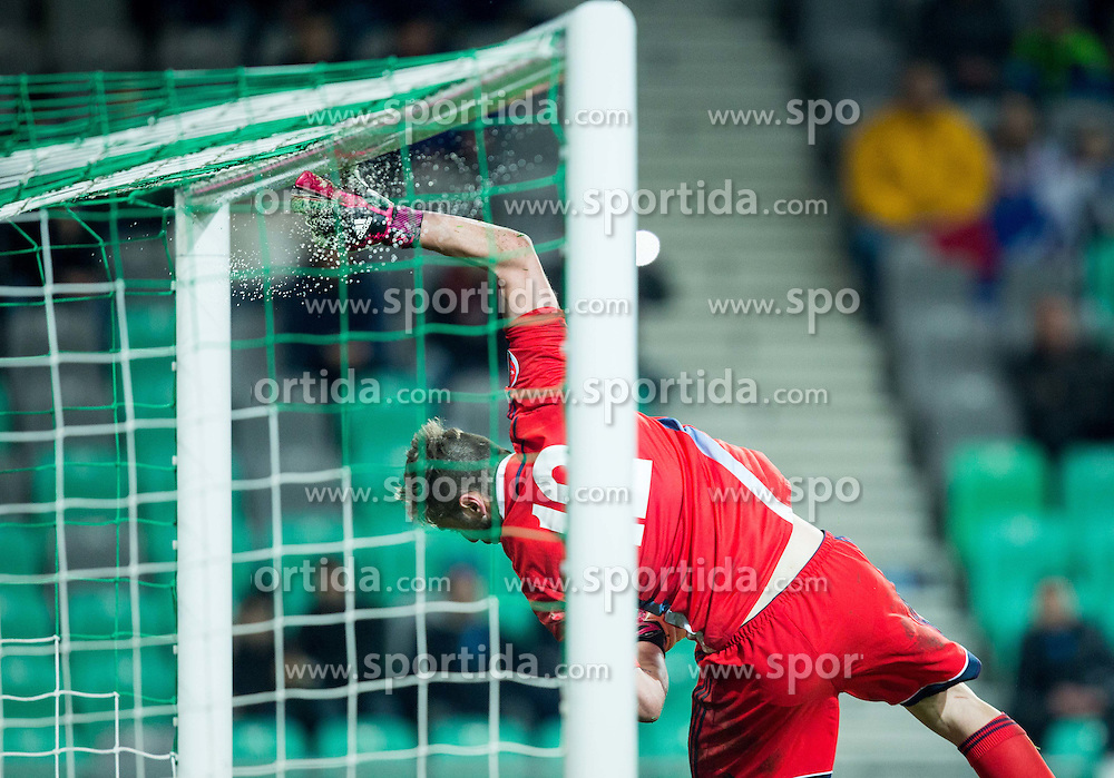 Elia Benedettini of San Marino during football match between NationalTeams of Slovenia and San Marino in Round 5 of EURO 2016 Qualifications, on March 27, 2015 in SRC Stozice, Ljubljana, Slovenia. Photo by Vid Ponikvar / Sportida
