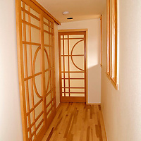 Shoji screen doors<br /> clear vertical grain fir and paper<br /> These doors were designed and built for a remodeled home in Eldorado Springs, Co.