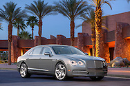 Automotive Photography of 2104 Bentley Flying Spur W12 shot in front of the Palm Springs Convention center.