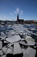 Ice in Stockholm after a cold winter in 2009-1020.