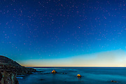 Big Sur California Coast of Monterey County at Night