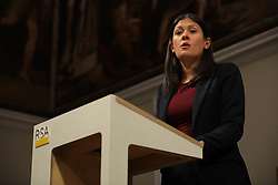 © Licensed to London News Pictures. 15/01/2020. London, UK. Labour Party leadership candidate Lisa Nandy gives a speech at RSA House on the UK's place in a post-Brexit world. Photo credit: Rob Pinney/LNP