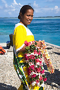 Welcome ceremony, Takaroa, Tuamotu Islands, French Polynesia, (Editorial use only)<br />