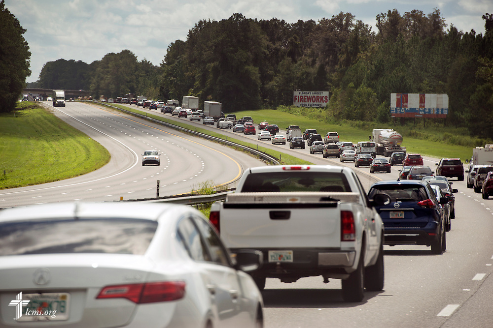 Residents return to their homes on Highway I-75 near Alachua, Fla. on Tuesday, Sept. 12, 2017. LCMS Communications/Erik M. Lunsford
