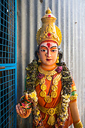 THIMMAMMA MARRIMANU, INDIA - 25th October 2019 - Statue of the goddess Thimmamma outside a small shrine at Thimmamma Marrimanu banyan tree - the world's largest single tree canopy. Andhra Pradesh, India. <br />