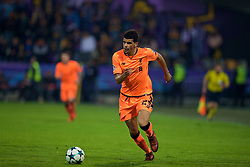 MARIBOR, SLOVENIA - Tuesday, October 17, 2017: Liverpool's Dominic Solanke during the UEFA Champions League Group E match between NK Maribor and Liverpool at the Stadion Ljudski vrt. (Pic by David Rawcliffe/Propaganda)
