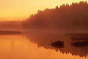 Fog at sunrise on the VermilionRiver<br /> Capreol<br /> Ontario<br /> Canada