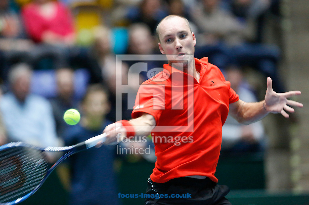 Steve Darcis of Belgium during the world group first round 2017 Davis Cup match between Germany and Belgium in the Fraport Arena, Frankfurt, Germany.<br /> Picture by EXPA Pictures/Focus Images Ltd 07814482222<br /> 05/02/2017<br /> *** UK &amp; IRELAND ONLY ***<br /> <br /> EXPA-EIB-170205-0214.jpg
