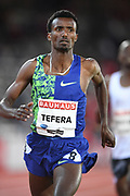 Samuel Tefera (ETH) places fifth in the 1,500m in 3:49.19 during the Bauhaus-Galan in a IAAF Diamond League meet at Stockholm Stadium in Stockholm, Sweden on Thursday, May 30, 2019. (Jiro Mochizuki/Image of Sport)